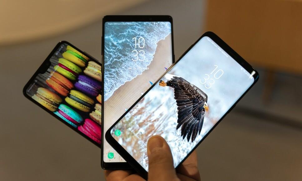 ANDROID 9: Snart kan Huawei- og Samsung-brukere oppgradere til nyeste versjon av Android. Foto: Martin Kynningsrud Størbu.