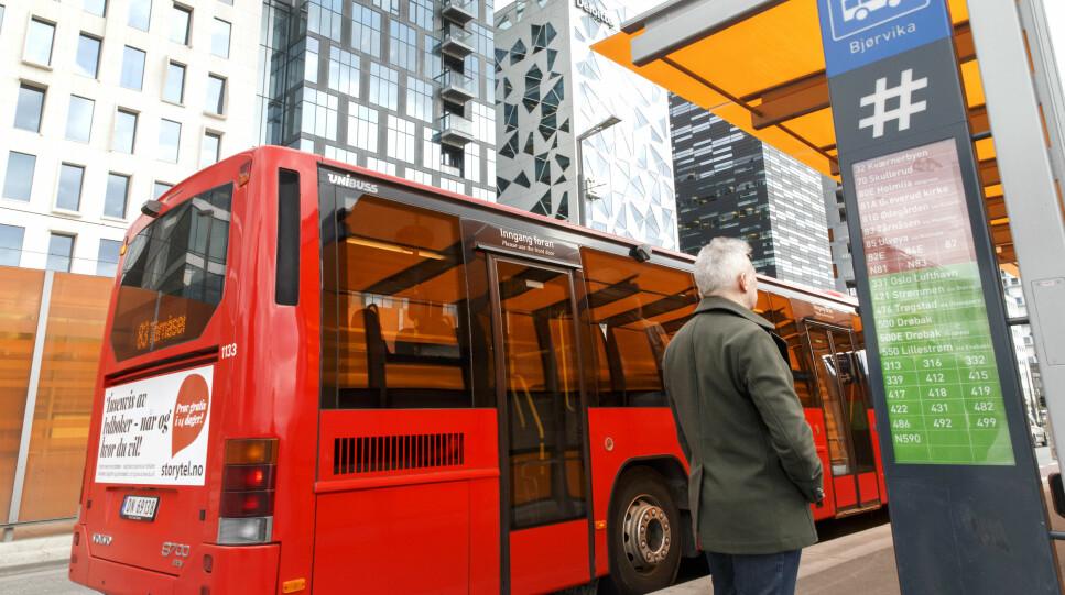 DYRERE KOLLEKTIVTRANSPORT: Ruter øker prisene i Oslo og Akershus fra 27. januar, mens andre byer økte prisene med virkning fra nyttår. Foto: NTB scanpix