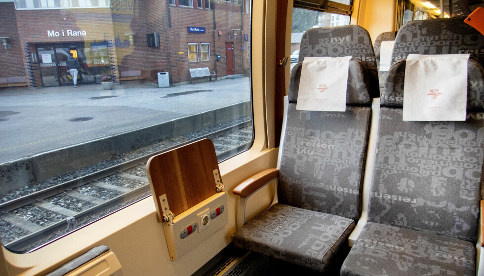HOLDER IKKE TIDEN: Punktligheten de siste sju årene har holdt seg over 90 prosent, men i 2018 falt den ned til 88,7 prosent. Bildet er fra Nordlandsbanen ved stasjonen i Mo i Rana. Foto: Gorm Kallestad/NTB Scanpix.