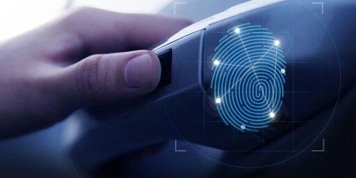 image: Denne bilen åpner og starter du med fingeravtrykket ditt