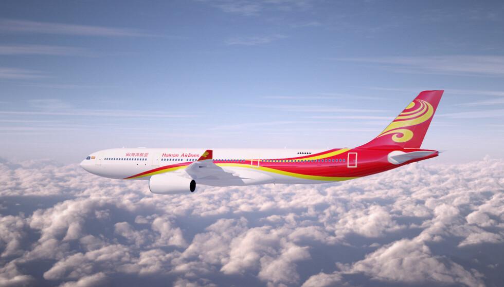 NYE FLYRUTER I 2019: Det kommer 24 nye flyruter fra Avinors lufthavner i 2019. Den største og mest eksotiske nyheten er det kinesiske flyselskapet Hainan Airlines som skal fly Oslo-Beijing tre dager i uken. Foto: Hainan Airlines