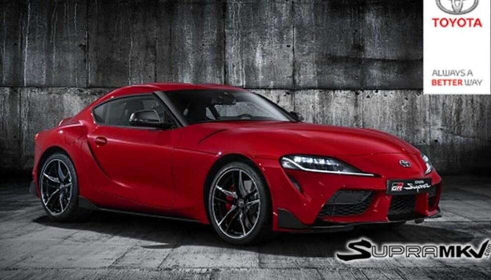 TYSK-JAPANSKE MUSKLER: Dette er Toyotas resultat av samarbeidet med BMW om utvikling av ny, kompakt sportsbil. På bildet fremstår den som ivrig etter å komme i bevegelse. Foto: Toyota Deutschland via supramkV.com