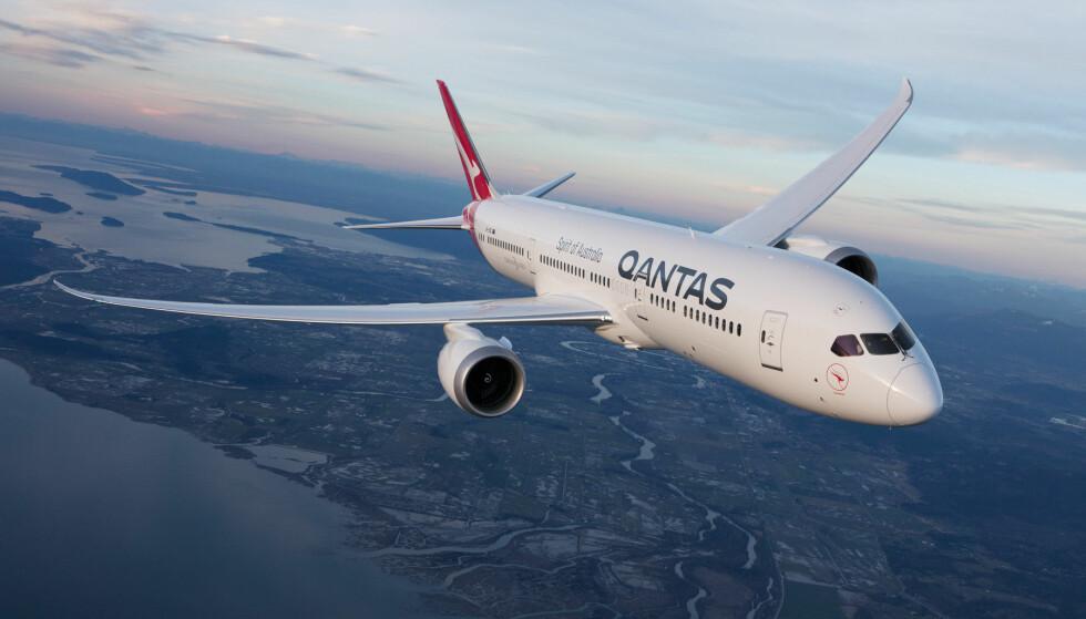 VERDENS TRYGGESTE FLYSELSKAP: Qantas utpekes til verdens tryggeste flyselskap i 2019. Foto: Qantas