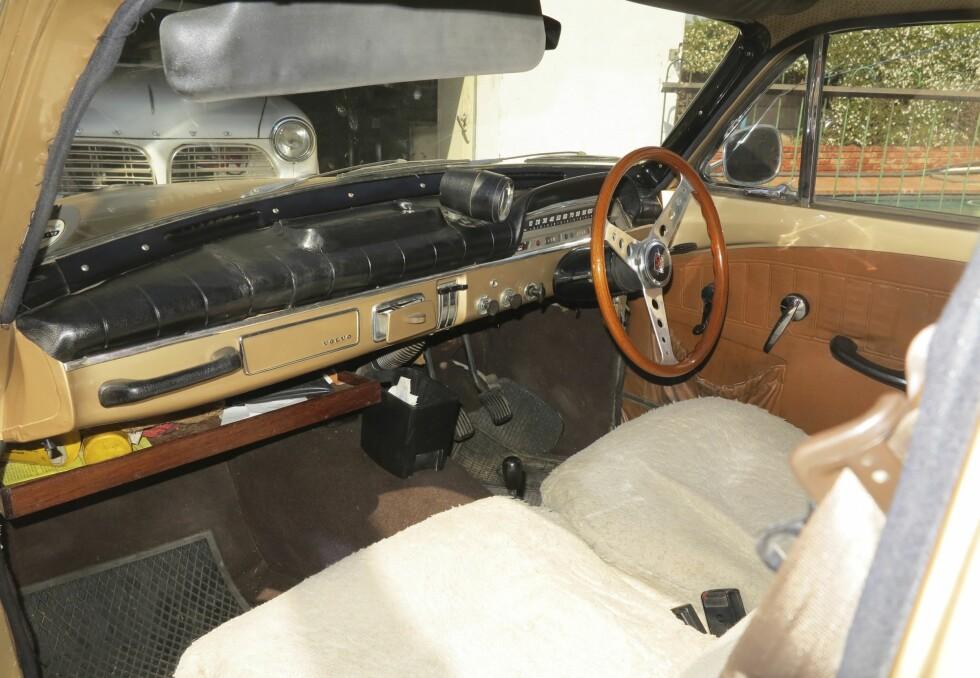 URØRT: Noen biler beholder han så original som mulig, som denne. Foto: Fred Magne Skillebæk