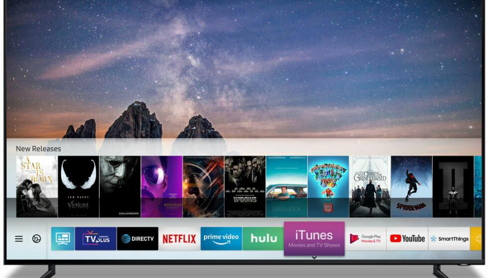 ITUNES: Snart kan personer med Samsung-TV se filmer og TV-serier fra iTunes. Foto: Samsung.