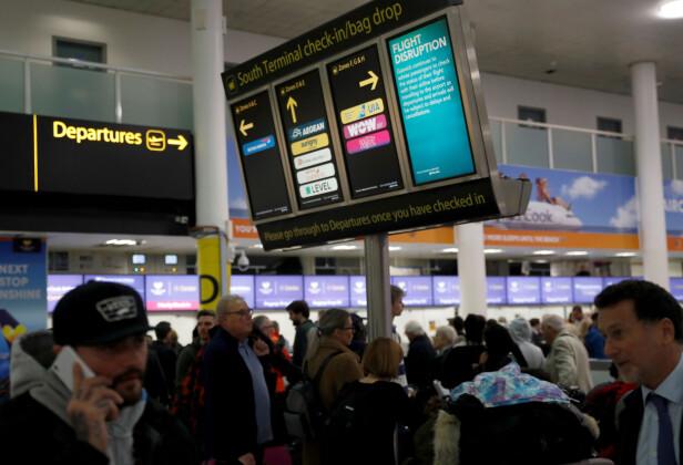LONDON GATWICK : En av flyplassene i verden med mest ventetid, mener reiseekspert Renate Sandvik. Foto: Scanpix.