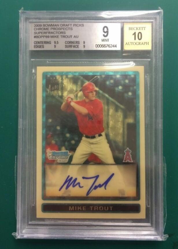 <strong>2009 Mike Trout Draft Pick baseball-kort:</strong> $400,000 (3.433.712 nok)