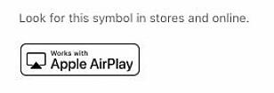 Ser du denne logoen på en TV betyr det at den støtter Airplay 2.