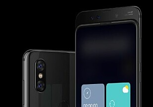 Mi Mix 3 har svært tynne rammer på toppen av skjermen også, siden frontkameraet er skjult og glir opp når du trenger det. Foto: Xiaomi