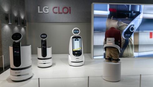 LGs roboter står til tjeneste. Foto: Martin Kynningsrud Størbu.