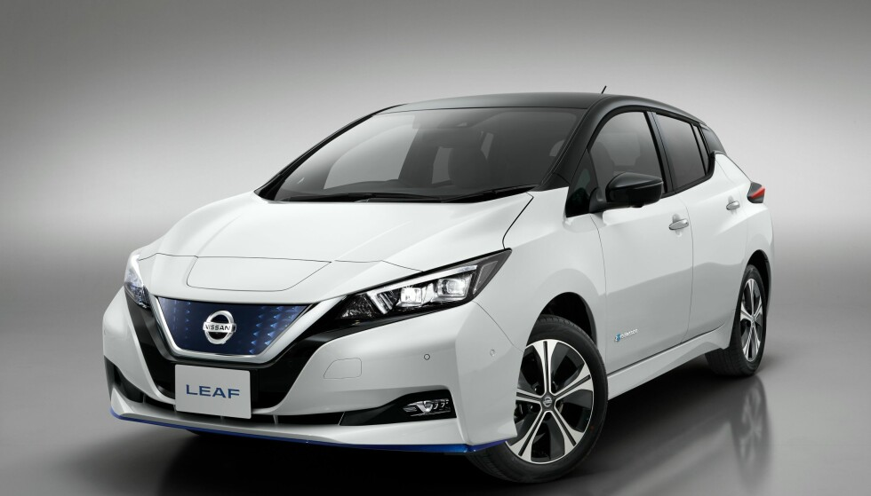 ENDELIG: Nissan starter levering av Leaf med 62 kWt batteri i juni. Foto: Nissan