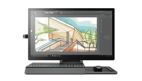 Foten har både plass til tastaturet og musen når de ikke er i bruk, men også smarttelefonen din. Foto: Lenovo
