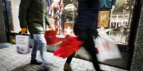 image: Julehandelen økte med tre prosent
