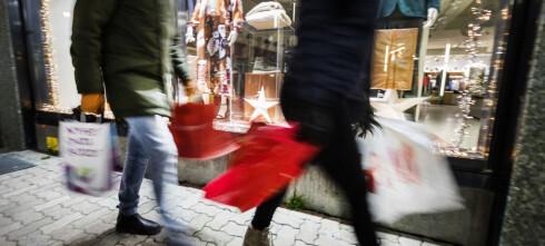 Julehandelen økte med tre prosent