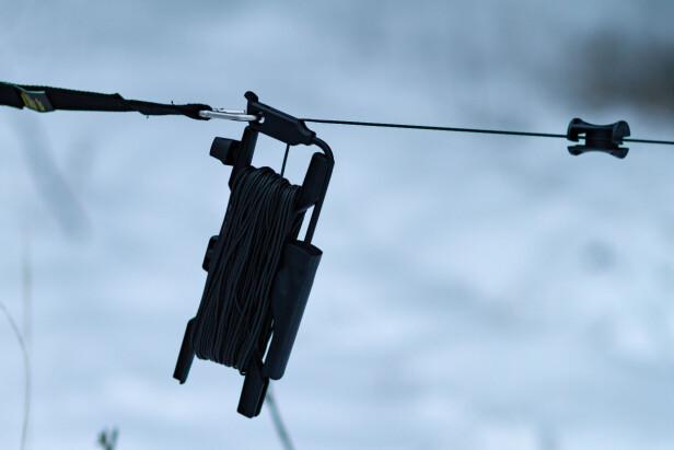 QUIKREEL: Denne smarte spolen har Wiral tatt patent på. Den gjør det raskt og enkelt å sette opp og ta ned linen - uten å få floke på tråden. Foto: Tron Høgvold