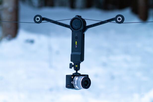 SYSTEMKAMERA: For mer filmaktige klipp er speilløse systemkamera et bra valg. Her har vi satt på et eldre Panasonic GF6. Foto: Tron Høgvold