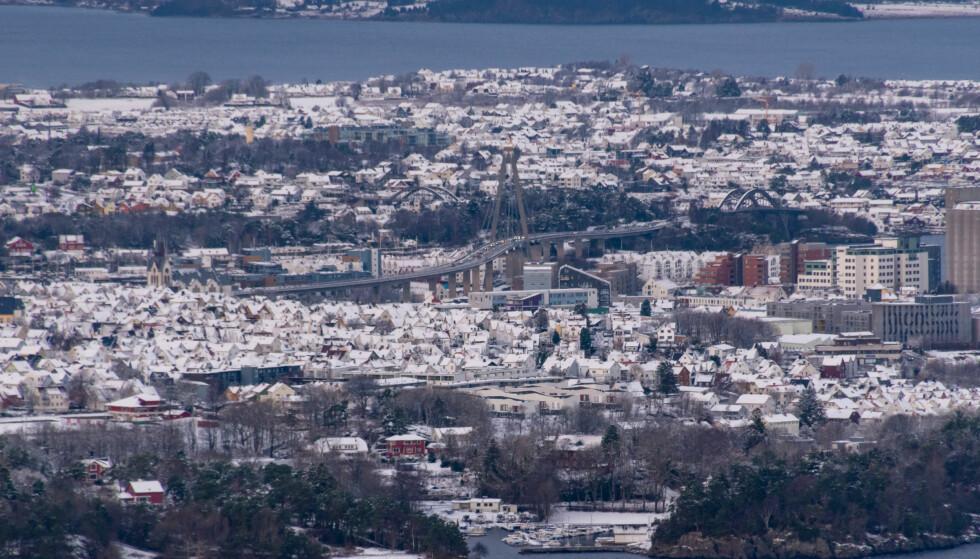OLJEBYEN: Rogaland, på bildet representert med Stavanger, er et av fylkene som ligger øverst på lista med husholdninger som har gjeld på mer enn tre ganger inntekt. Foto: Shutterstock/NTB Scanpix.