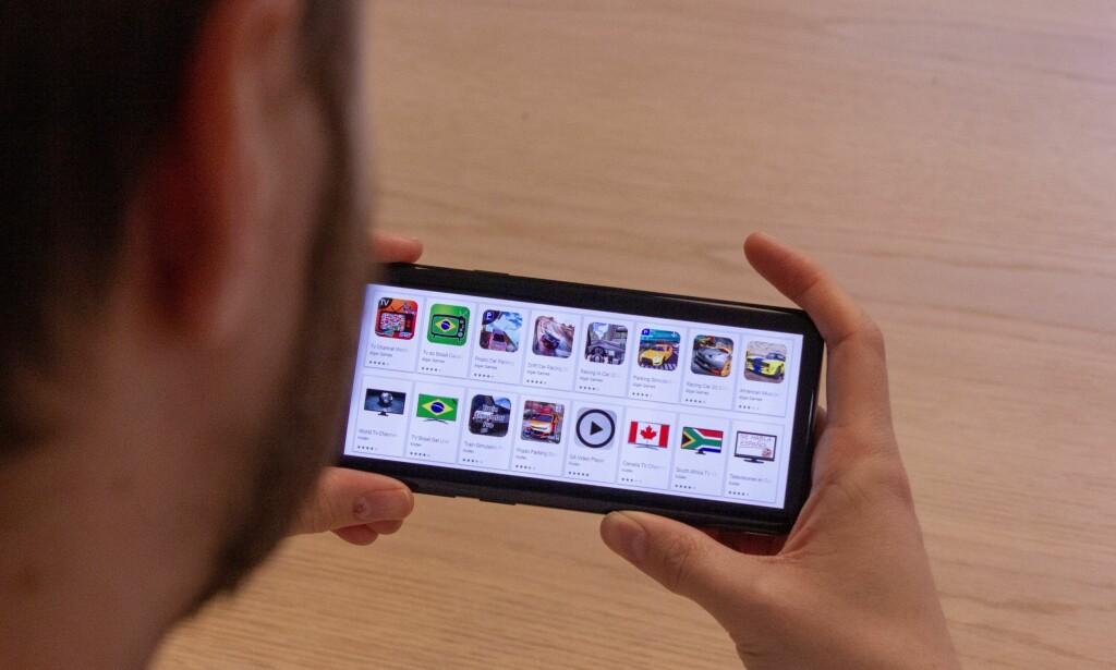SKADEVARE: Nok en gang rapporteres det om skadevare i Google Play Store til Android. Foto: Pål Joakim Pollen