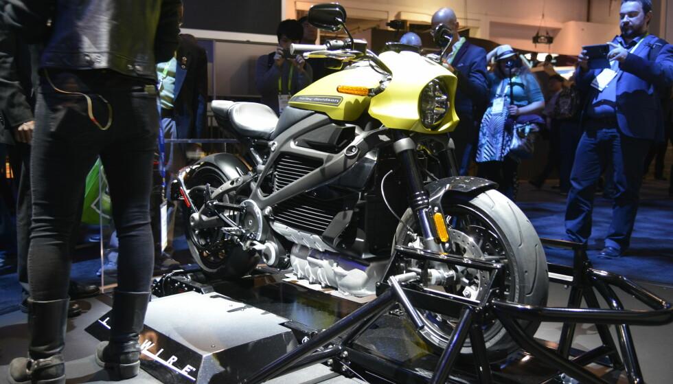 <strong>LIVEWIRE:</strong> Harley Davidsons første helelektriske motorsykkel. Foto: Jamieson Pothecary