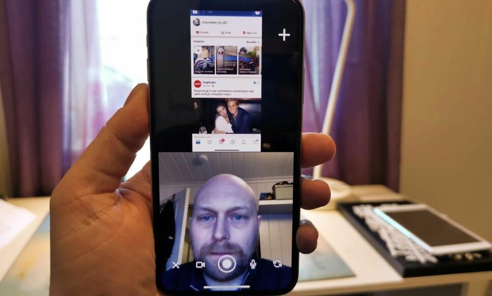 VIDEOCHAT MED SKJERMDELING: Med Squad kan du dele alt på skjermen med den du prater med. Foto: Pål Joakim Pollen