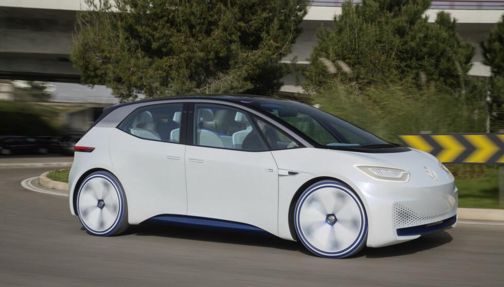 HELT NY GENERASJON: I.D. er stor som en Golf utvendig, men får innvendig plass som en Passat, påstår VW. Foto: VW