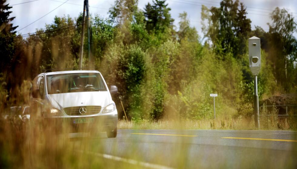 VIL BEGRENSE: Fremskrittspartiet (Frp) og regjeringen vil begrense bruken av strekningsmålinger på norske veier. Foto: NTB Scanpix