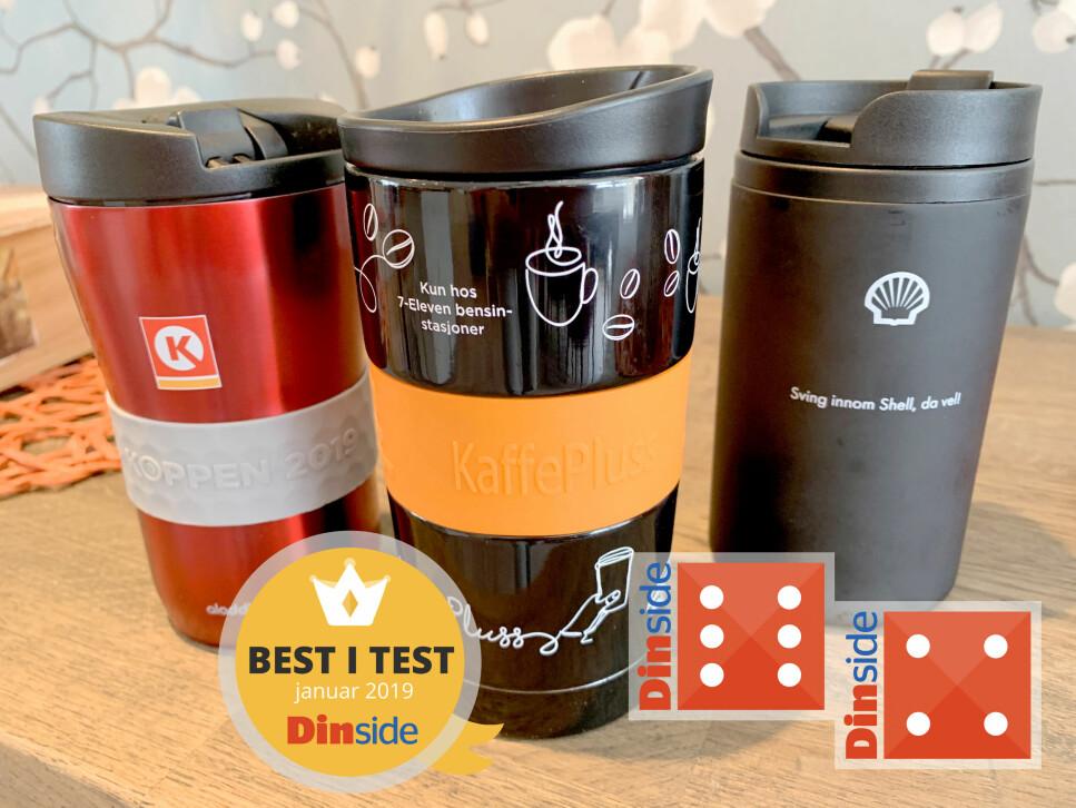 KAFFEAVTALEr: Kaffeavtale hos Circle K, YX 7-Eleven eller Shell? Hvilken kaffeavtalekopp er best? Vi har testet. Foto: Kristin Sørdal