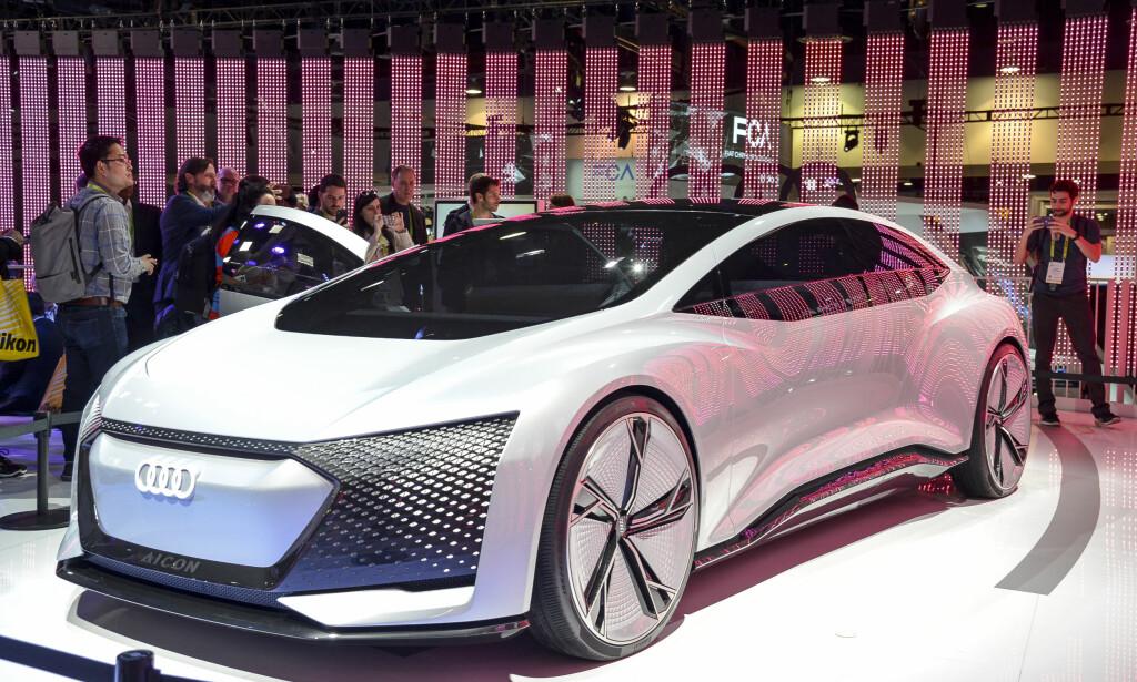 KONSEPT BONANZA: Audi Aicon var en av utallige mange konseptbiler som ble presentert for oss på CES-messe i Las Vegas. Noen har en mer realistisk spådom om bilens fremtid enn andre ... Foto: Jamieson Pothecary