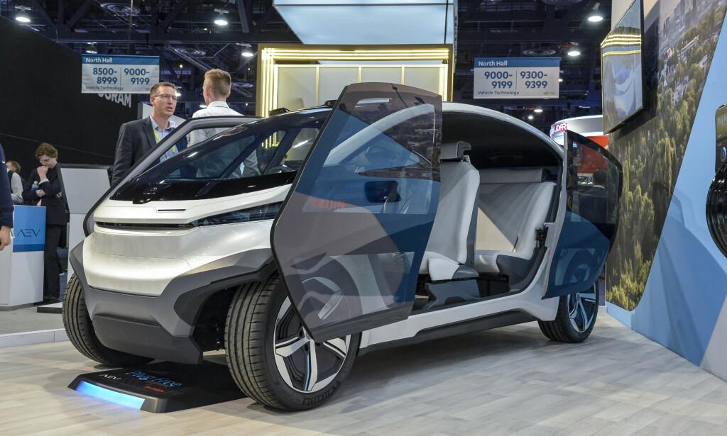 AEV ROBOTICS: En modulbasert konseptbil, der kupeen byttes ut etter behov. Har ikke vi set dette før? Foto: Jamieson Pothecary
