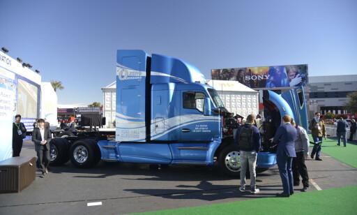 KENWORTH T680s: Kenworth har samarbeidet med Toyota og laget an hydrogen drevet lastebil. Den skal tas i bruk allerede i 2020 i Los Angeles. Foto: Jamieson Pothecary
