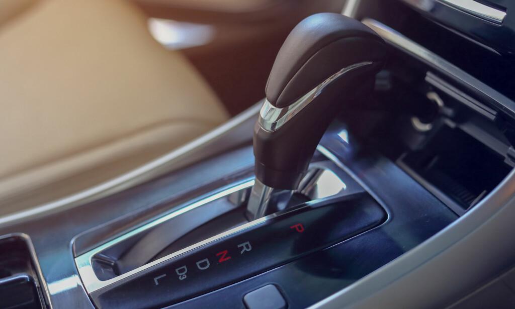 SELGER MEST: Mer enn 90 prosent av nye biler selges med automatgir. Foto: Shutterstock / NTB Scanpix