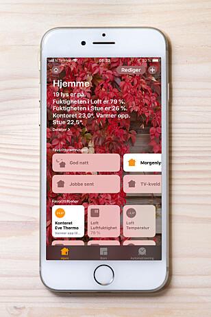 APP: Alt som har med HomeKit å gjøre håndteres i Hjem-appen, som som ble introdusert med iOS 10 i 2016.