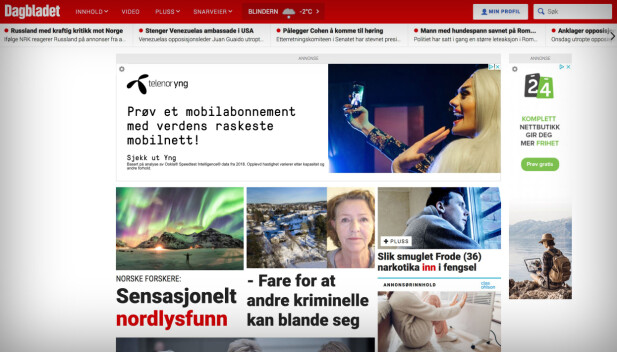 Dagbladet.no, 2019