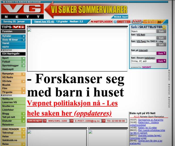 VG.no, 2009