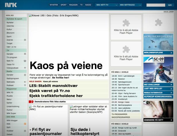 nrk.no, 2009