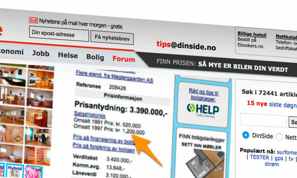 image: Slik så ti norske nettsider ut for ti år siden