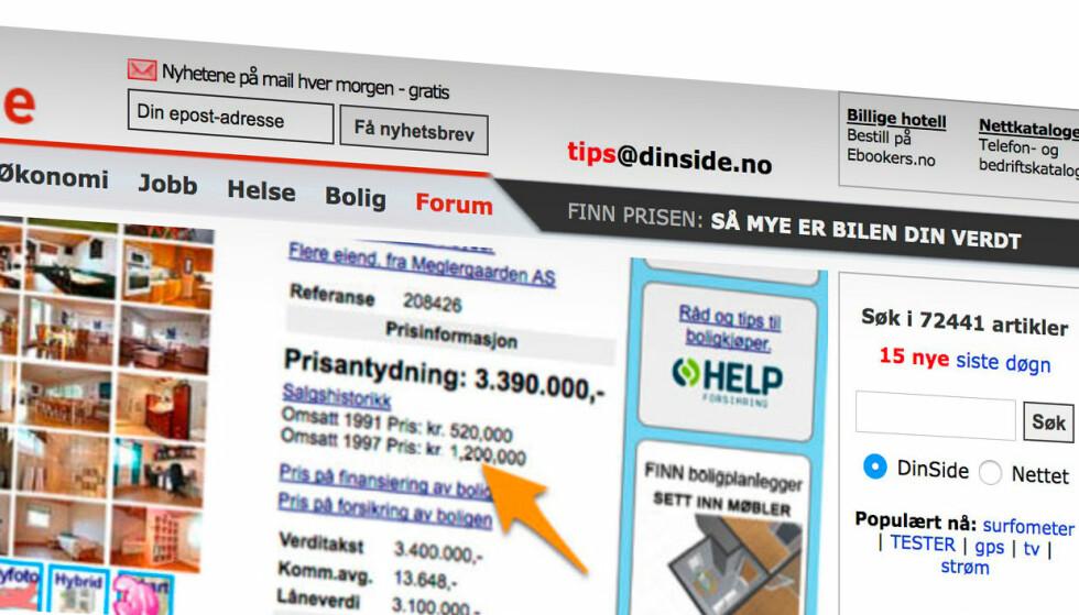 Slik så ti norske nettsider ut for ti år siden