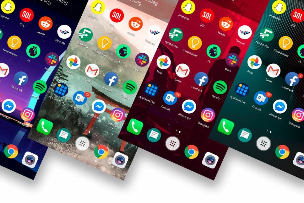 MYE GROMT: Appen RedPapers henter de mest popuære bildene fra Reddit og bytter bakgrunnen din automatisk. Foto: Pål Joakim Pollen