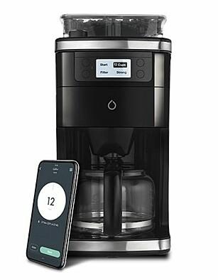 Smarter Coffee styrer du med en app.