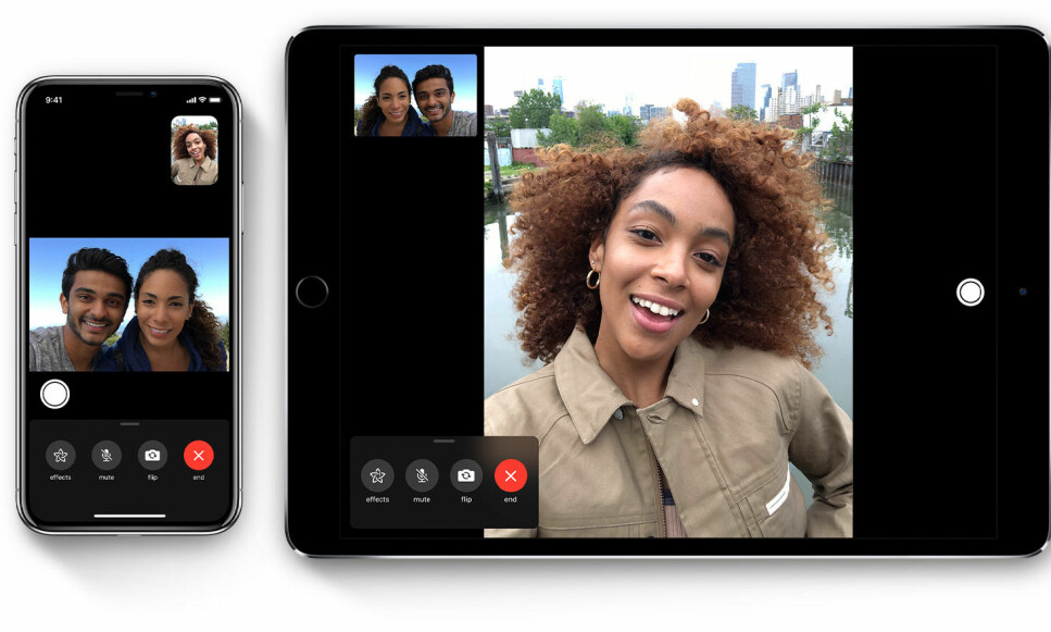 SIKKERHETSBRIST: Apple har deaktivert gruppesamtaler i FaceTime etter rapportene om et alvorlig sikkerhetshull. Foto: Apple