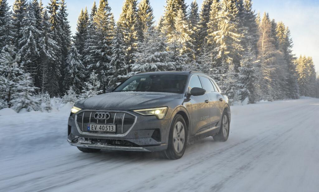 TESTET: Dinside har kjørt ettertraktede Audi e-tron på vinterføre i Norge. Vi er imponert! Foto: Jamieson Pothecary