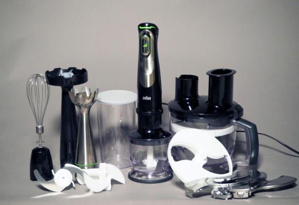 BRAUN: Du får flere deler enn du kanskje trenger, men med denne i hus, kan du løse de aller fleste oppgavene på kjøkkenet.