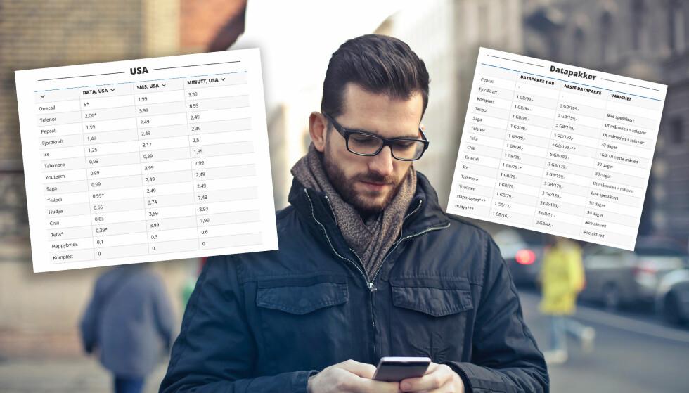 MER ENN MÅNEDSPRISEN: Det er til tider svært store prisforskjeller å spore når man ser på ALLE mobilprisene. Foto: Bruce Mars