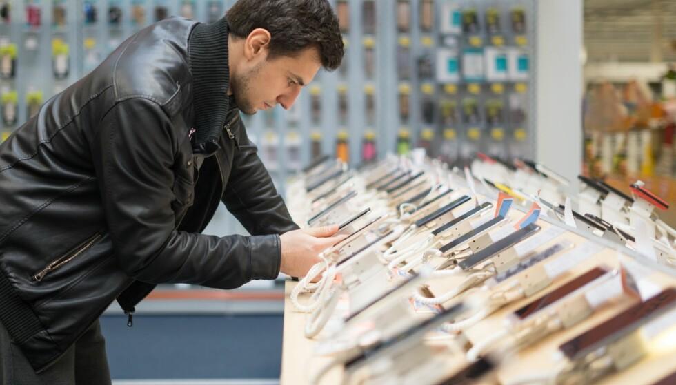<strong>MYE Å VELGE I:</strong> Men i 2018 ble det for første gang solgt færre telefoner globalt enn året før. Foto: Shutterstock / NTB Scanpix