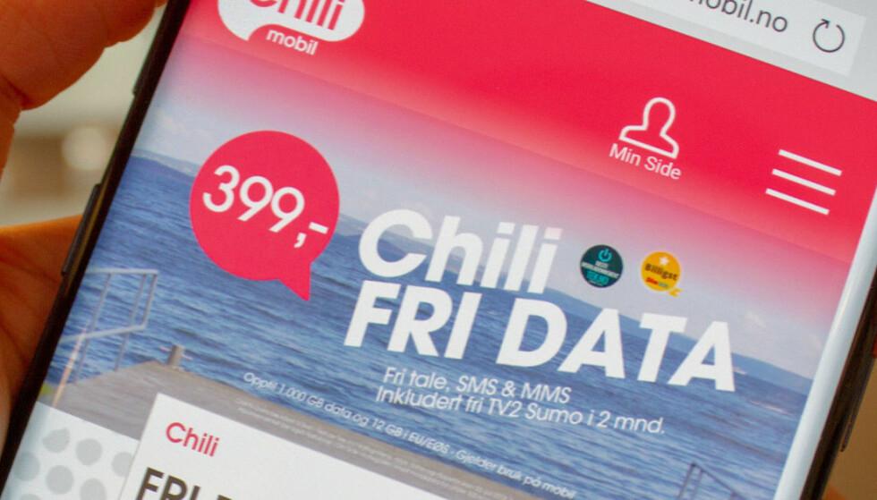 FJERNER RESTRIKSJONER: Fri Data-kundene til Chilimobil behøver ikke lenger å sende en SMS etter å ha brukt 5 GB. Foto: Martin Kynningsrud Størbu