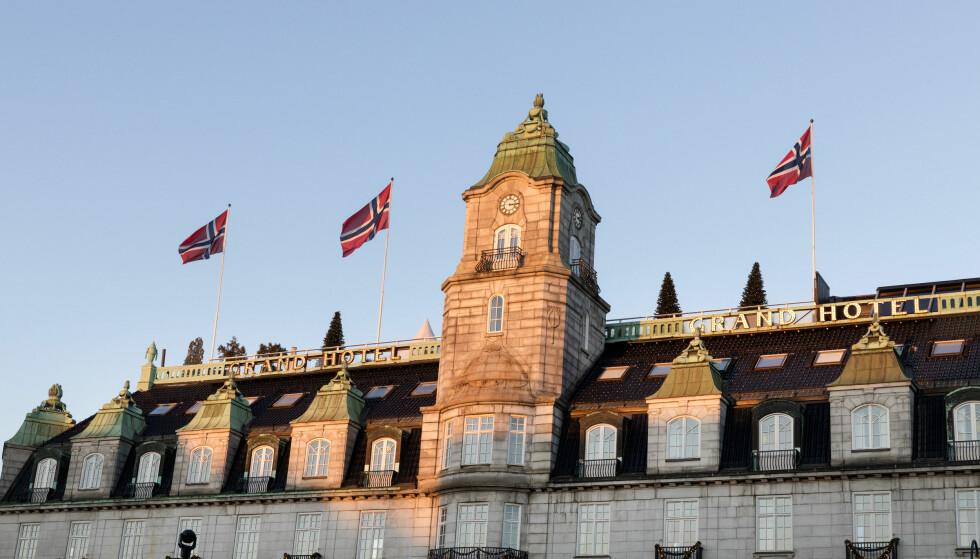 NORGE ER POPULÆRT: Norske hoteller har aldri hatt flere overnattinger enn i 2018. Her, Grand Hotel i Oslo. Foto: Gorm Kallestad / NTB scanpix