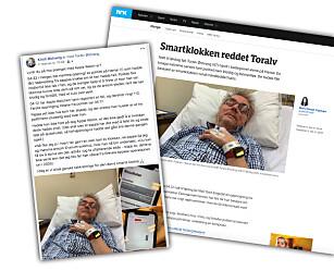 FØRSTE I NORGE? Et Facebook-innlegg ble til en nyhetsartikkel som har blitt spredd stort i sosiale medier i helga. Skjermbilde/faksimile NRK.no