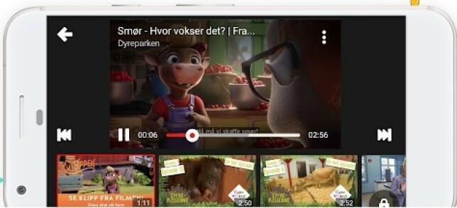 YouTube Kids har et barnevennlig design, med lite tekst og uten kommentarer og klikkbare annonser. Foto: Google