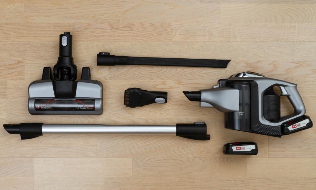 BOSCH: Ekstra batteri og et smart, fleksibelt sprekkmunnstykke er noe Bosch er alene om. Foto: Tron Høgvold