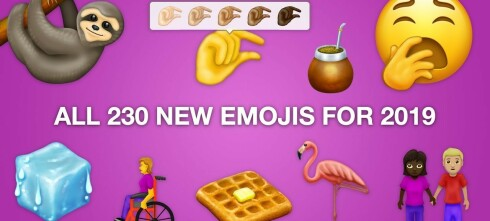 Årets nye emojier blir enda mer inkluderende